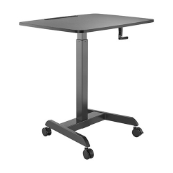 Brateck Manual Height Adjustable Workstation with casters - Black (FWS08-4-B)