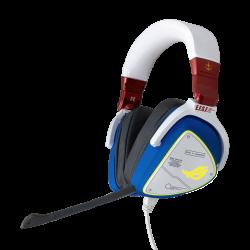 ASUS ROG DELTA GUNDAM Special Edition Headset, Hi-Res ESS Quad-DAC, RGB, USB C, PC, MAC, PS4, Nintendo Switch, Mobile, 50mm Dri