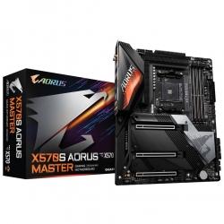 Gigabyte X570S AORUS MASTER AMD Ryzen AM4 ATX Motherboard, 4x DDR4 ~128GB, Wi-Fi 6E AX210, BT, 3x PCI-E x16,