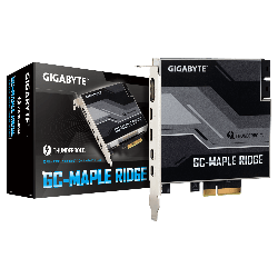 Gigabyte Maple Ridge Thunderbolt 4 Certified Add-in Card, Dual Thunderbold 4 (USB-C) Ports, 1x DisplayPort 1.4, 2x Mini-DisplayPort In GC-MAPLE RIDGE