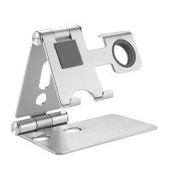 Brateck 2 in 1 Foldable Cell Phone and Smartwatch Stand ( ??6.5''),Apple Watch Series 5/4/3/2/1,Apple Watch Studio/Herm ?s/Edition PHS01-2
