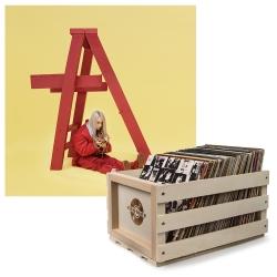 Crosley Record Storage Crate & Billie Eilish - Dont Smile At Me - Vinyl Album Bundle UM-5791948-B