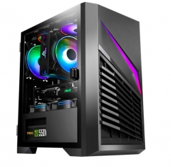 Antec DP31 mATX, ITX, LED control, USB 3.0, Tempered Glass Side Panel, Up to 5 Fans, 1x preinstalled Fan rear, High Efficiency Cooling Gaming Case