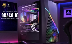 Antec DRACO10 m-ATX, ITX. Support Large VGA up to 360mm. Mesh Front, Top Vent, Easy clean dust filters, 1x Fan in Rear, Gaming Case