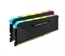Corsair Vengeance RGB RT 16GB (2x8GB) DDR4 3200MHz C18 18-22-22-42 Heatspreader Desktop Gaming Memory Black for AMD CMN16GX4M2Z4000C18