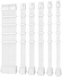 Antec PSU - Sleeved Extension Cable Kit V2 - White. 24PIN ATX, 4+4 EPS, 8PIN PCI-E, 6PIN PCI-E, Compatible with Standard PSU PSUSCW30-102-W