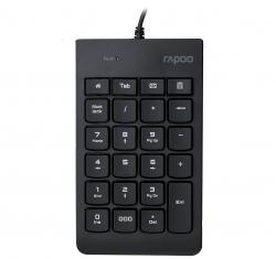 RAPOO K10 Wired Numeric NumberPad Keyboard - Spill Resistant Design, Laser Carved Keycap, Spill-Resistant Design, Easy Installation