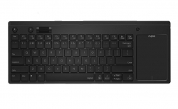 RAPOO K2800 Wireless Keyboard with Touchpad & Entertainment Media Keys - 2.4GHz, Range Up to 10m, Connect PC to TV, Compact Design