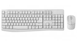 RAPOO X1800Pro Wireless Mouse & Keyboard Combo - 2.4G, 10M Range, Optical, Long Battery, X1800PRO-WHITE