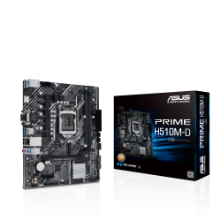 ASUS Intel PRIME H510M-D/CSM micro ATX Motherboard PCIe 4.0, 32Gbps M.2 slot, Intel 1 Gb Ethernet,