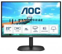 AOC 21.5' 22B2HN FHD (16:9) VA, 75Hz w/ HDMI 1.4, VGA, Tilt, Low Blue, Flicker Free, Ultra Slim, VESA 100mm, Tilt. Home Office Business Monitor