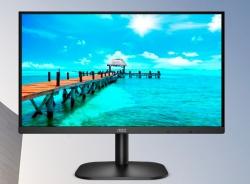 AOC 23.6' 24B2XDA IPS 4ms FHD, Adaptive Sync, Headphone out, Tilt, VESA100mm, 2x Integrated Speakers. HDMI / DVI / VGA, Flicker FREE, Business Monitor