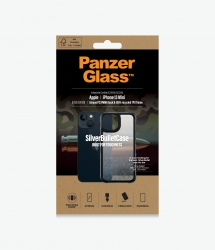 PanzerGlass Silverbullet Clear Case for Apple iPhone 13 Mini - Black - Slim Fashionable Design, Anti-bacterial, Enhance Protection 0318