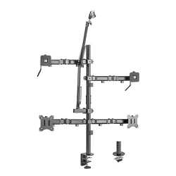Brateck Dual-Monitor All-in-One Studio Setup Desktop Mount Fit17'-32' Up to 9kg MDS10-2