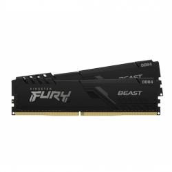 Kingston Fury Beast 16GB (8GB x2) DDR4 2666Mhz CL16 1.2V Non ECC DIMM Single Rank Low Profile Heat KF426C16BBK2/16