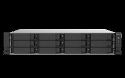 QNAP 12-BAY NAS (NO DISK), CELERON QC 2.0GHz, 4GB, 2.5GbE(2), PCIe(1), 2U, RPSU, 3YR WTY TS-1253DU-RP-4G