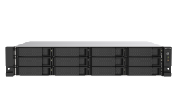 QNAP TS-1273AU-RP-8G 12-bay rackmount NAS, AMD Ryzen Embedded V1500B quad-core 2.2 GHz processor