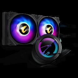 Gigabyte AORUS WF CPU AIO COOLER 240 W/ LCD DISPLAY, INTEL/AMD SOCKET,2 x 120mm RGB FANS, 3YR WTY GP-AORUS-WATERFORCE-240