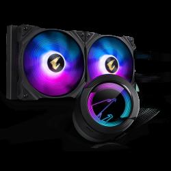 Gigabyte AORUS WF CPU AIO COOLER 280 W/ LCD DISPLAY, INTEL/AMD SOCKET,2 x 140mm RGB FANS, 3YR WTY GP-AORUS-WATERFORCE-280