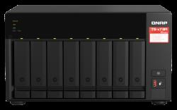 QNAP 8-BAY NAS (NO DISK), AMD QC 2.2GHz, 8GB, 2.5GbE(2), M.2(2), TWR, 3YR WTY TS-873A-8G