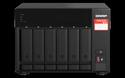 QNAP TVS-675-8G 6-bay NAS, Zhaoxin KX-U6580 8C/8T 2.5GHz, 8GB DDR4 RAM (2 x SODIMM slots, max. 64GB), 6x SATA 6Gb/s bays, 2 Year WTY