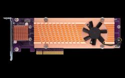 QNAP - Quad M.2 PCIe SSD expansion card; supports up to four M.2 2280 formfactor M.2 PCIe (Gen3 x4) SSDs; QM2-4P-384