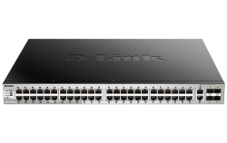 D-Link 54 port Stackable Gigabit PoE Switch with 6 10GbE ports DGS-3130-54PS