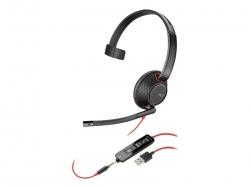 PLANTRONICS BLACKWIRE C5210 UC MONO USB-A & 3.5MM CORDED HEADSET - PROMO ENDS 26 JUN 21