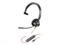 PLANTRONICS BLACKWIRE 3310, UC, MONO USB-C CORDED HEADSET - PROMO ENDS 30SEP21 213929-01