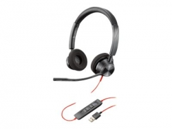 PLANTRONICS BLACKWIRE 3320-M, UC, STEREO USB-A CORDED HEADSET - PROMO ENDS 26 JUN 21 214012-01