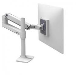 Ergotron LX Desk Mount LCD Monitor Arm Tall Pole Bright White Texture 45-537-216