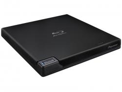 Pioneer BDRXD07TB 6x Slim Portable USB 3.0 Blu-ray/DVD/CD Burner, retail packaging w/software