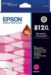 Epson 812XL - High Capacity Capacity DURABrite Ultra - Magenta Ink Cartridge C13T05E392