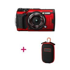 Olympus TG-6 Red Camera with CSCH-107 Carabine Hook Camera Case 09OTG6-RED+CASE
