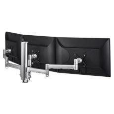 Atdec AWM Triple monitor arm solution - 710mm & 130mm articulating arms - 400mm post - bolt - black AWMS-3-137140GB-B