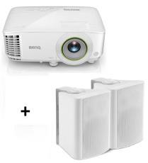 Bundle BenQ EH600 DLP Smart Projector w/BONUS Wall Speakers - Full HD/ 3500ANSI/ 10,000:1/ HDMI, VGA/ USB/ Android 6.0 O/S/ Speakers