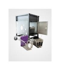 Gilkon LCMT-30 - 30 Bay PC Vault Trolley w/ Eco System - Blue Doors ***FREE IPAD/TABLET BASKET*** LCMT-30-BLUE-IPAD