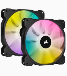 Corsair SP140 RGB ELITE, 140mm RGB LED Fan with AirGuide, Dual Pack with Lighting Node CORE CO-9050111-WW