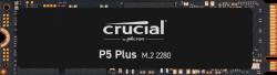 Crucial P5 Plus 2TB 3D NAND Gen4 NVMe PCIe M.2 SSD, 6600R/5000W(seq)MB/s,1200TB TBW, 2M Hrs MTTF,[CT2000P5PSSD8] 5yr wty