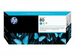 HP 80 CYAN PRINTHEAD AND PRINTHEAD CLEANER - 1000/1050  C4821A