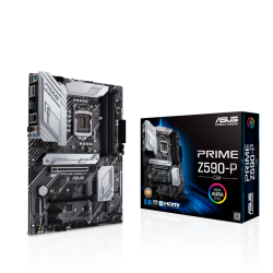 Asus INTEL Z590 LGA 1200 ATX MOTHERBOARD WITH PCIE 4.0 THREE M.2 SLOTS 11 DRMOS POWER STAGES PRIME Z590-P/CSM