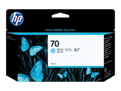 HP 70 130-ML LIGHT CYAN INK CARTRIDGE - Z2100/3100/Z5200/Z3200 C9390A