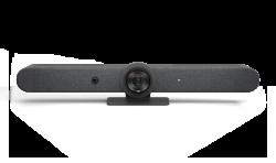 LOGITECH RALLY BAR ALL IN ONE 4K ULTRA HD VIDEO BAR,BUILT IN SPEAKER & MIC,GRAPHITE-2YR WT 960-001315