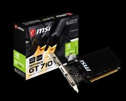 MSI Geforce GT710 2GB GDDR3 PCI-E, HDMI / DL-DVI-D / D-Sub, Low Profile Single PCI Slot (GT 710 2GD3H LP)