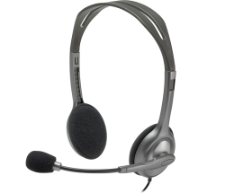 Logitech Wired Analog Headset H110, MIC, Silver, Stereo (981-000459)
