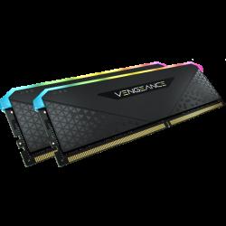 Corsair DDR4, 3200MHz 16GB 2x8GB Dimm, Unbuffered, 16-20-20-38, XMP 2.0, Vengeance RGB RS, CMG16GX4M2E3200C16