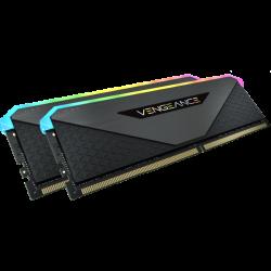 Corsair DDR4, 3200MHz 32GB 2x16GB Dimm, Unbuffered, 16-20-20-38, XMP 2.0, Vengeance RGB RT Heatspreader, CMN32GX4M2Z3200C16