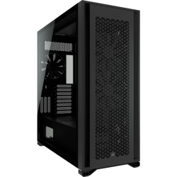 Corsair Obsidian 7000D AF Tempered Glass Mini-ITX, M-ATX, ATX, E-ATX Tower Case, USB 3.1 Type C, 10x 2.5', 6x 3.5' HDD. Black CC-9011218-WW