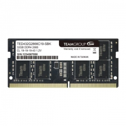 TEAM Group 1x32GB Elite SODIMM 2666Mhz DDR4 Laptop Memory (TED432G3200C22-S01)