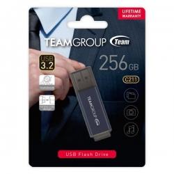 TEAM C211 USB3.2 Gentleman Grey Flash 256GB Lifetime Warranty TC2113256GL01